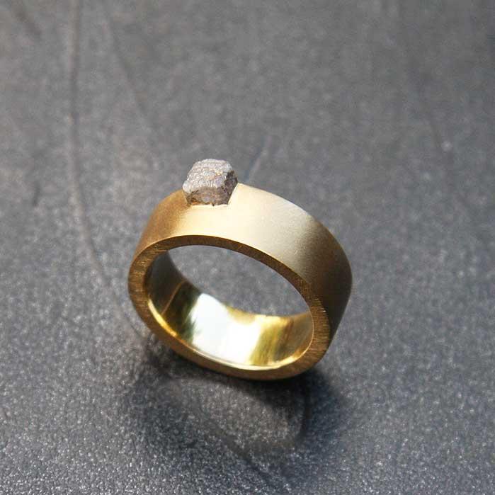 Anneau Diamant Brut