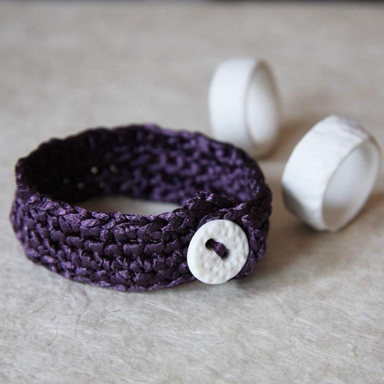 Bracelet Maille Prune