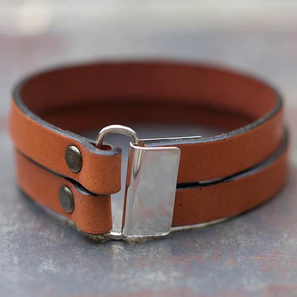 Bijoux bracelet cuir homme