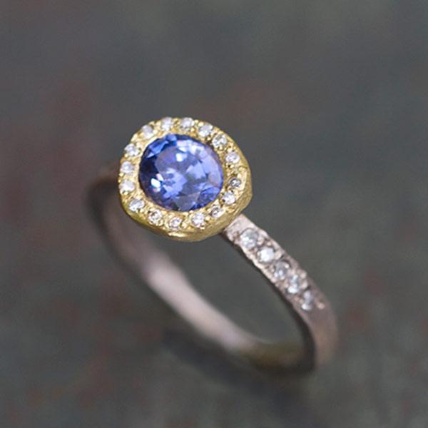 Bague Sentiment Saphir Diamants