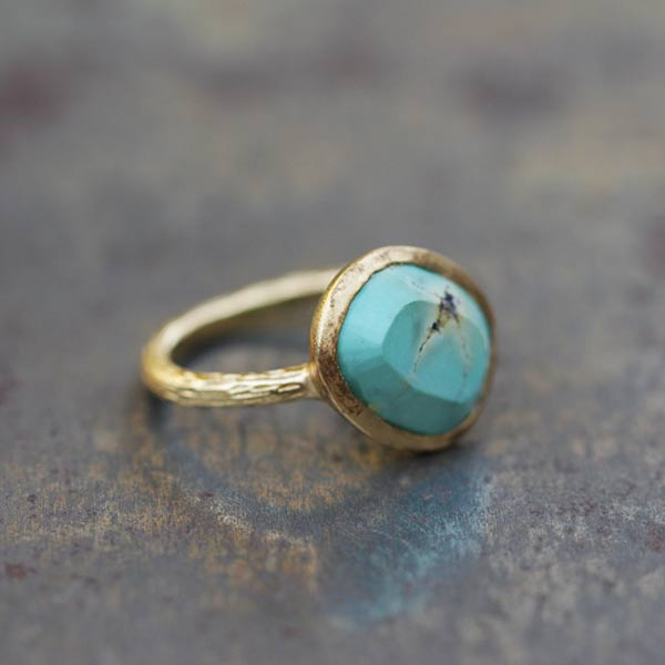 Bague Aurore turquoise