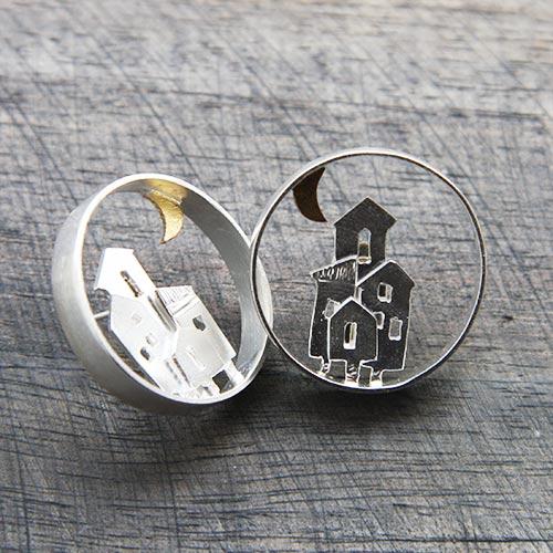 Boucles d'oreilles maisons