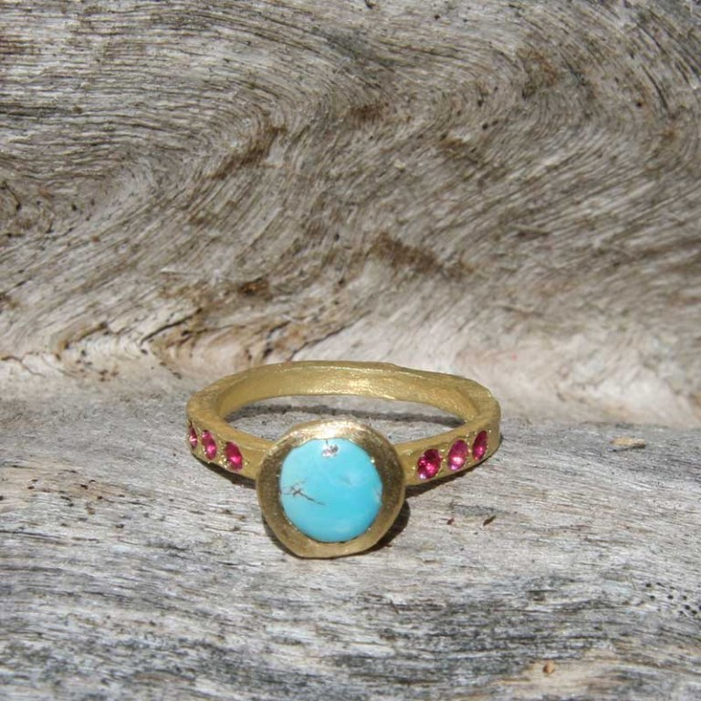 Bague Turquoise/Rubis