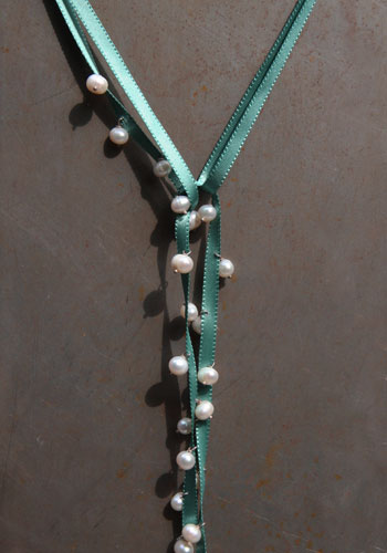 Ribbon vert lagon turquoise