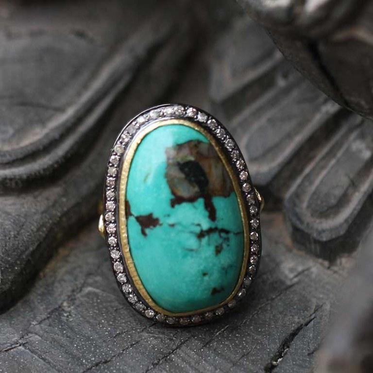 Bague Elk Turquoise n°1