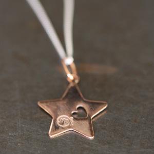 Médaille étoile vermeil or rose