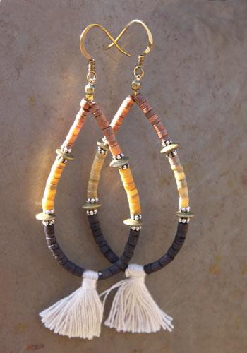 Boucles d'oreilles Sonoma cornsilk