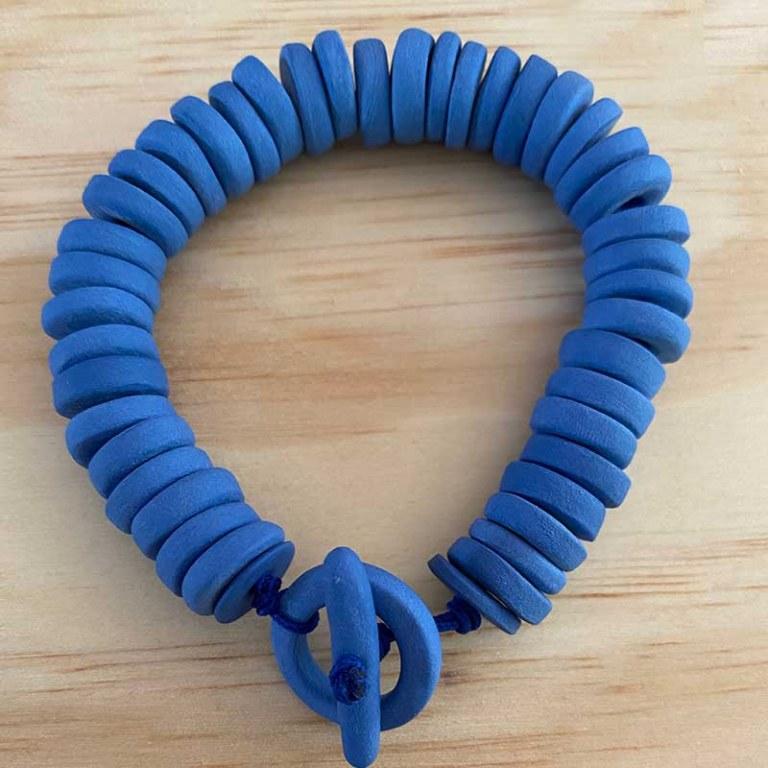 Bracelet Porcelaine Bleu Majorelle