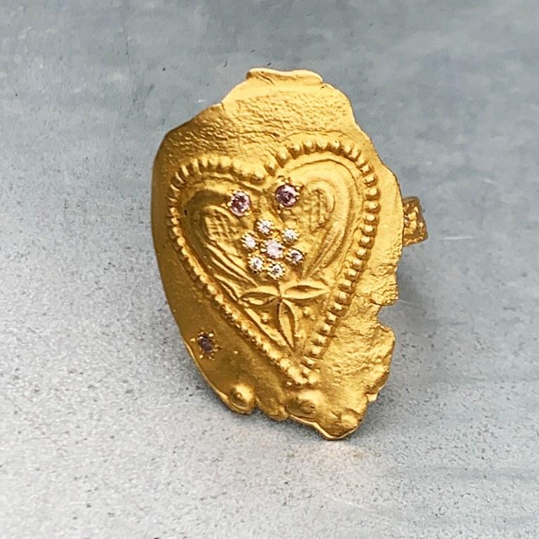 Bague Coeur Antique