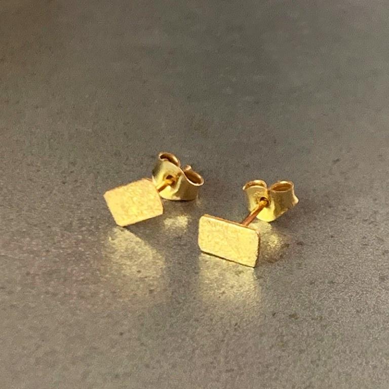 Boucles d'oreilles Scortea rectangle