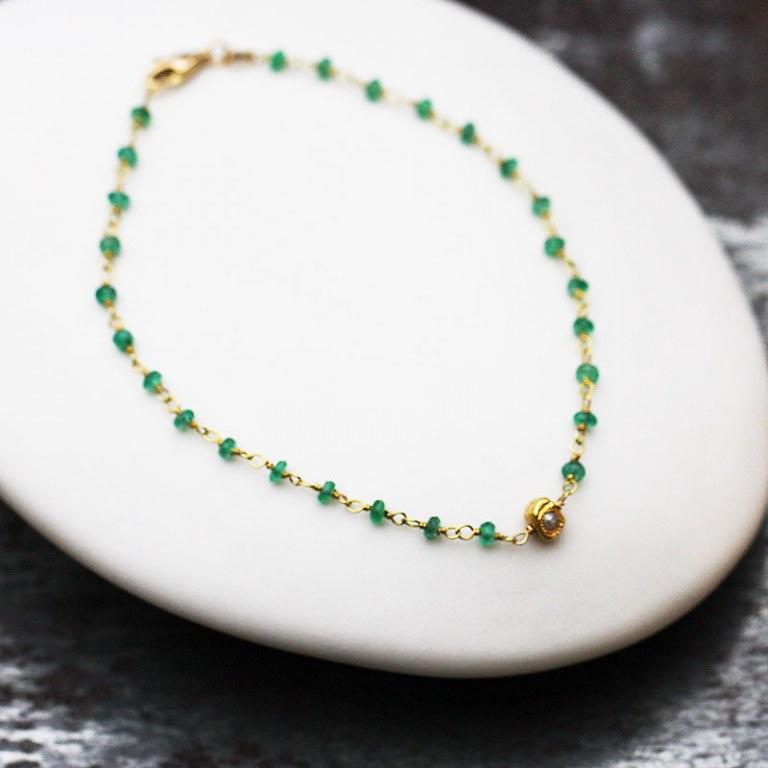 Bracelet Emeraudes