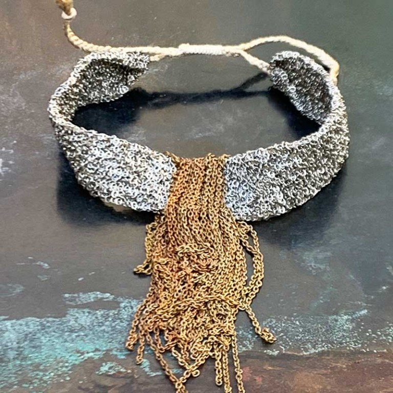 Bracelet Fringe Argenté