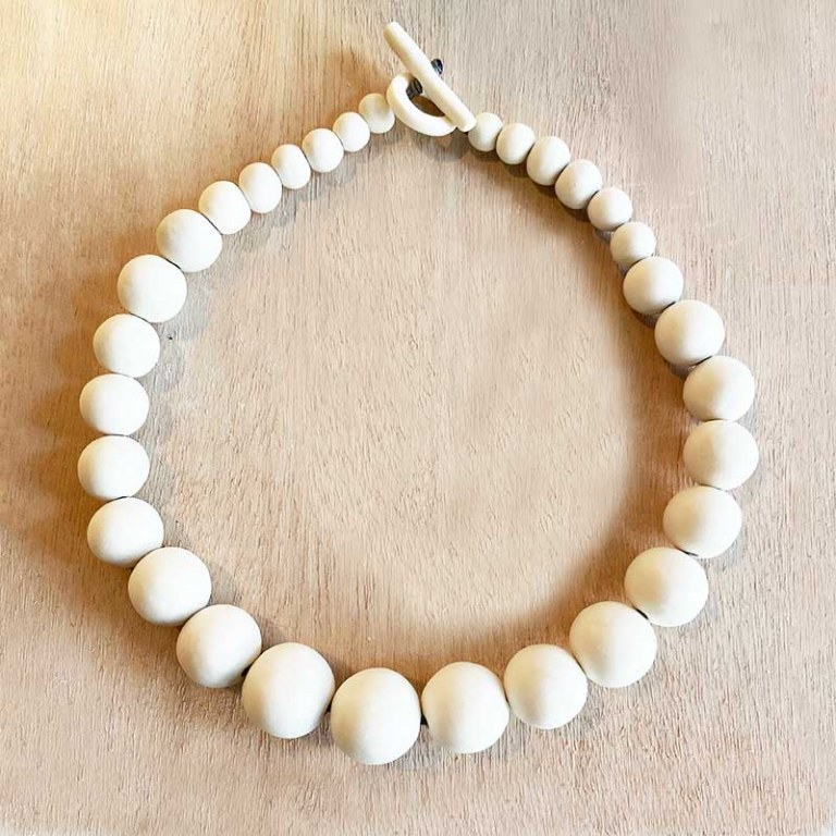 Collier Perles Blanches