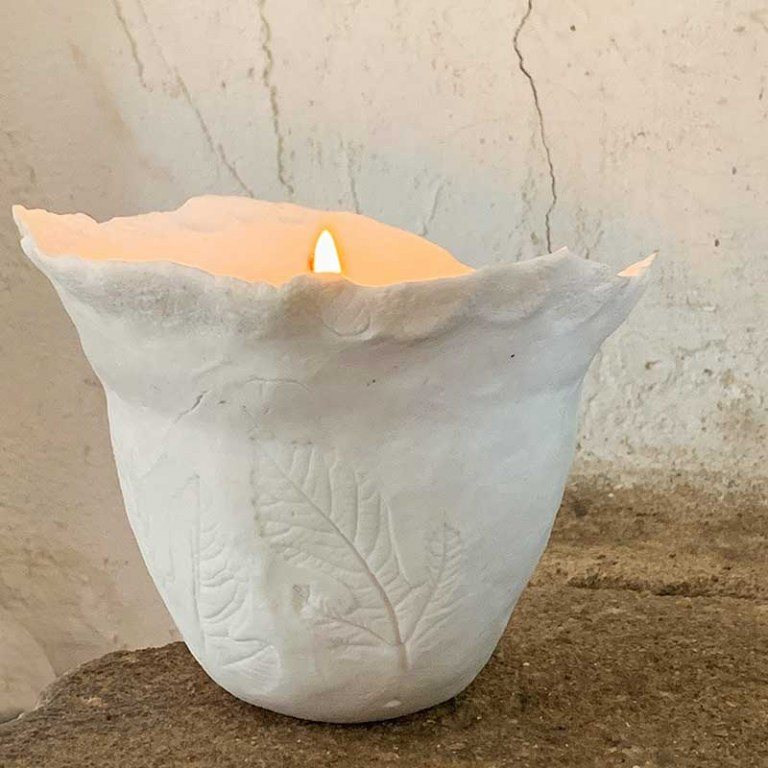 Bougie Porcelaine Blanche