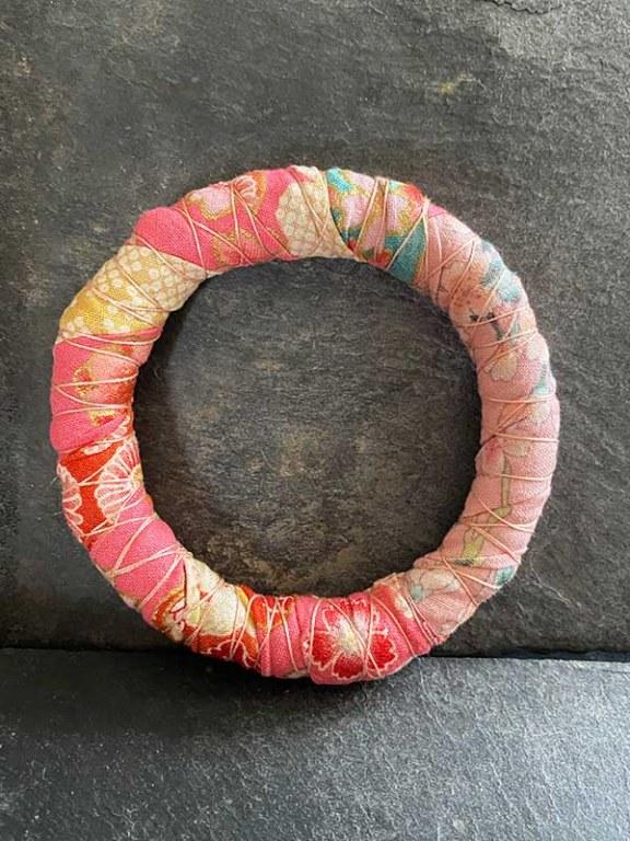 Bracelet Jonc Rose pâle / Rose