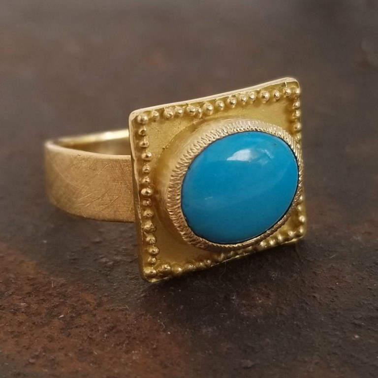 Bague Rectangle Turquoise