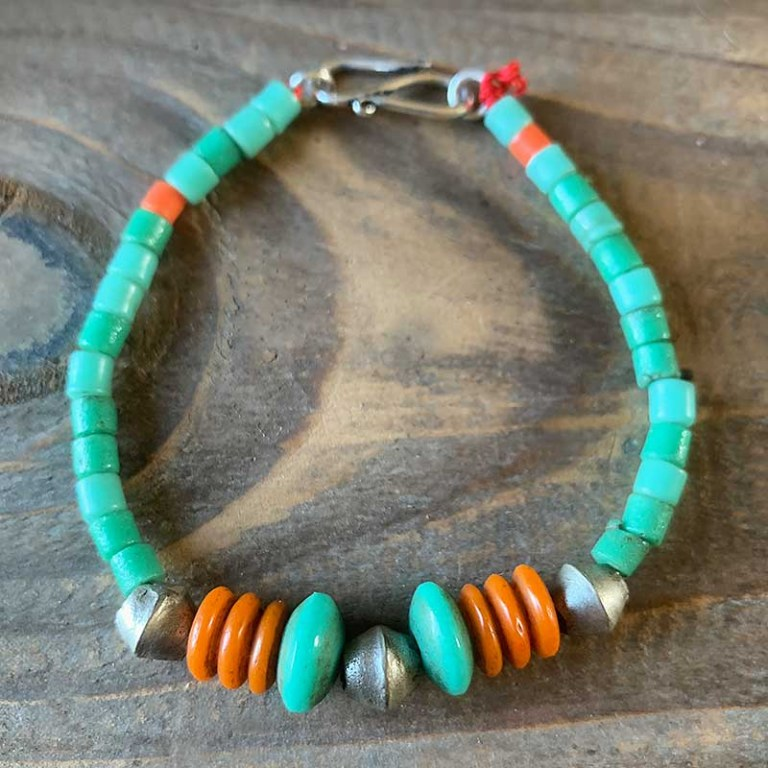 Bracelet Simple Vert-Corail