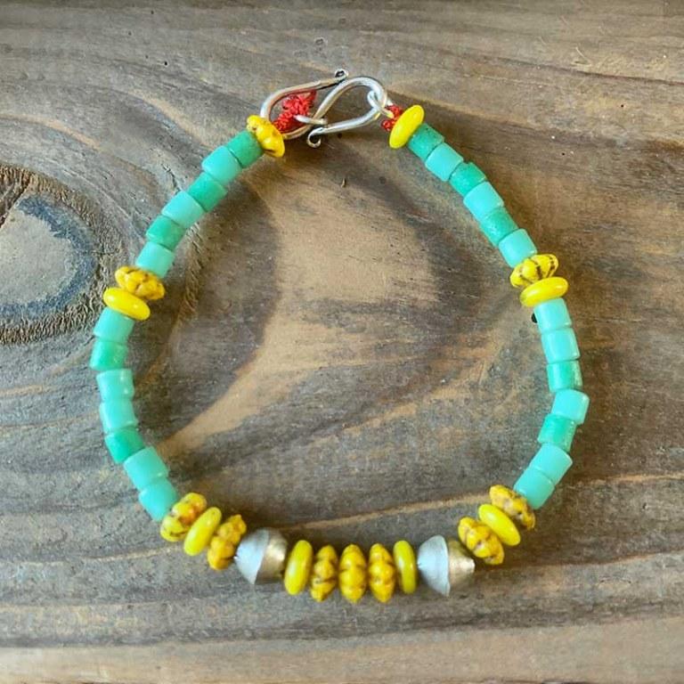 Bracelet Simple vert jaune