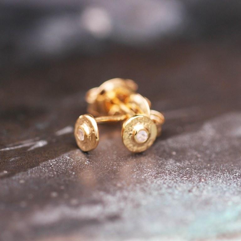 Boucles d'oreilles Feliz Clou pierre de lune