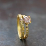 Bague Sentiment Diamant rose