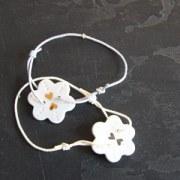 Bracelet Fleur Porcelaine