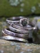 Alliance Or gris Diamant rose