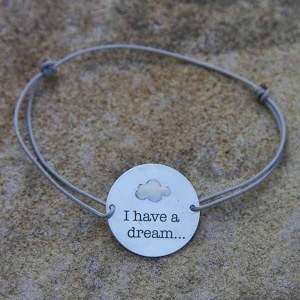 Bracelet médaille I have a dream...