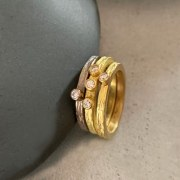 Bague Fine Scortea 3 diamants