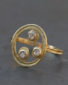 Bague Céleste 3 diamants