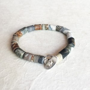 Bracelet Agate Tube Homme