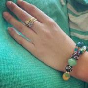 Bracelet Double Vert/Bleu
