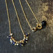Collier Bulle iolite