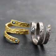 Bague Serpent or jaune