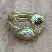 Bague Diamant Brun VENDUE
