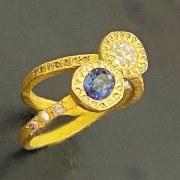 Bague Sentiment Saphir & Diamants Vendue
