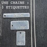 Collier Etiquettes à Personnaliser