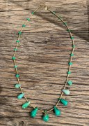 Collier Chrysoprase Unique