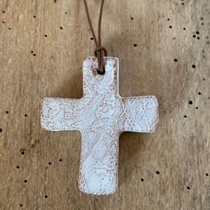 Pendentif Croix Blanche n°1