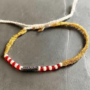 Bracelet Fin Or & Rouge