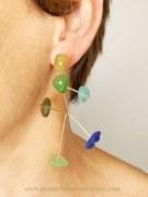 Boucles d'oreilles Tiges Fleurs Mobile