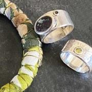Bracelet Textile Vert