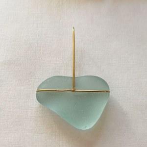 Pendentif vert d'eau bleu