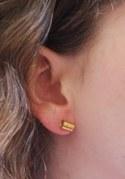 Boucles d'oreilles Tube Or