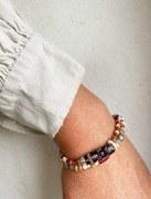Bracelet Double Rouge Noir Blanc