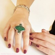 Bague XL Malachite